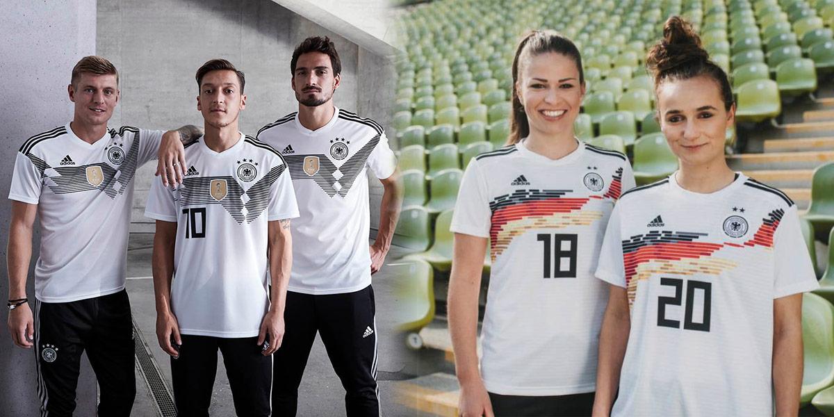 Maglia Germania maschile vs femminile