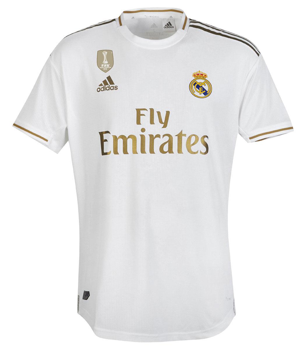 Maglie Real Madrid 2019-2020 adidas, il bianco sposa l'oro
