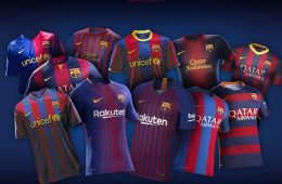 Maglie Barcellona 2008-2019