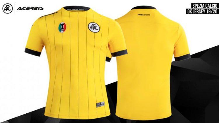 Maglia gialla portiere Spezia 2019-2020