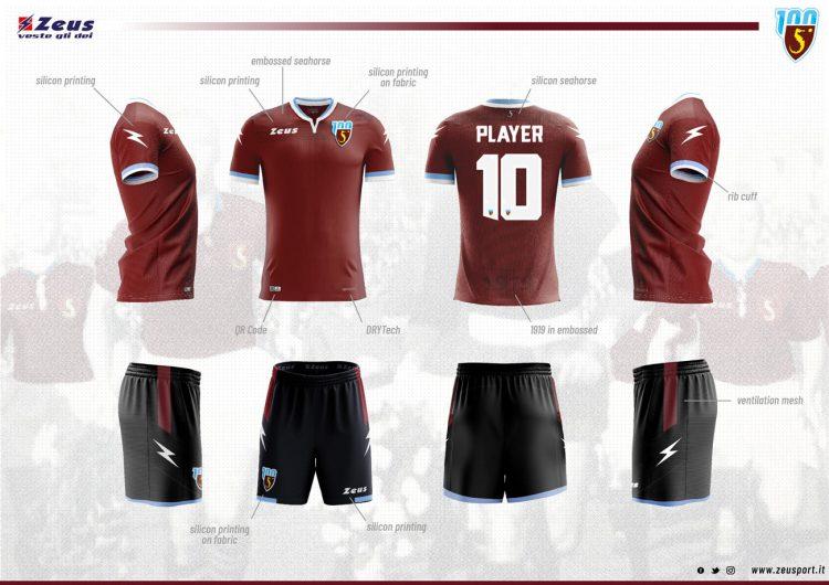 Divisa Salernitana home 2019-2020