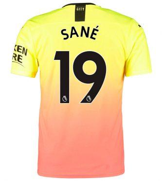 City, terza maglia Sanè 19
