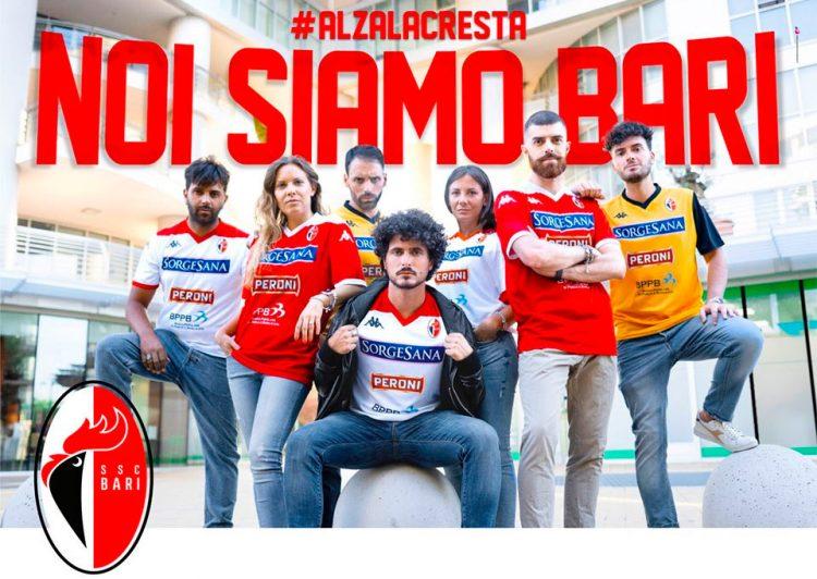 Le maglie del Bari per la Serie C 2019-2020