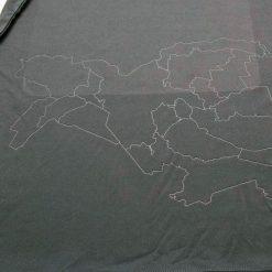 La mappa geografica di Ferrara sulla maglia della Spal