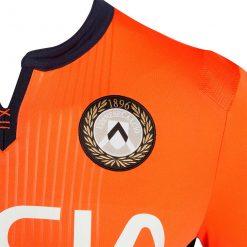 Dettaglio maglia Udinese away arancione
