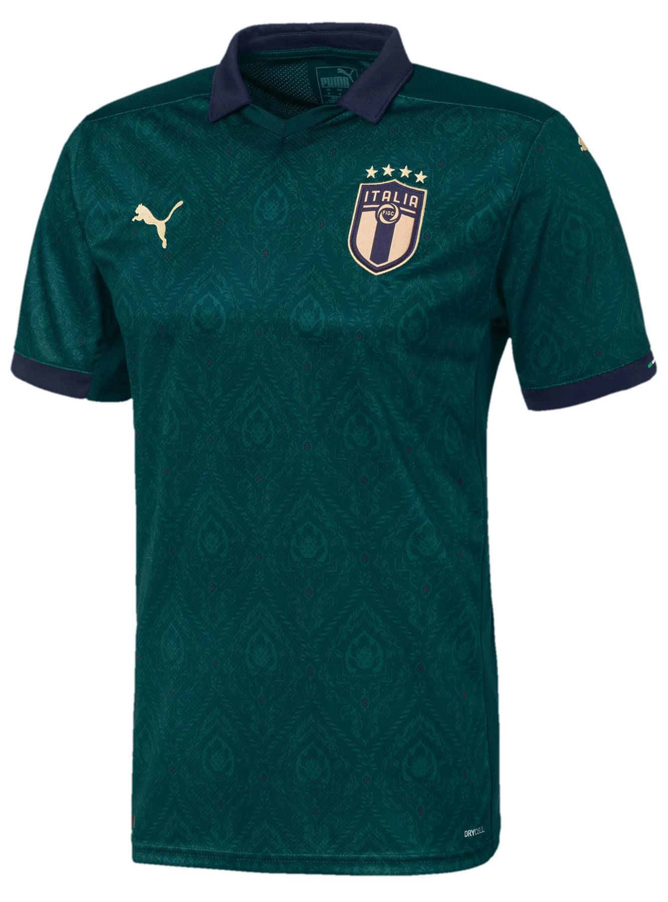 Maglia verde Italia 2020, il kit di Puma ispirato al Rinascimento