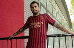 La nuova maglia del Milan per i 120 anni