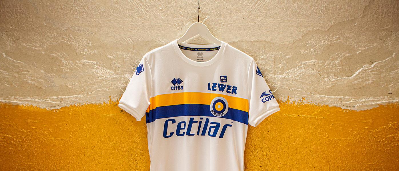 La maglia celebrativa del Parma 60 anni Parmense