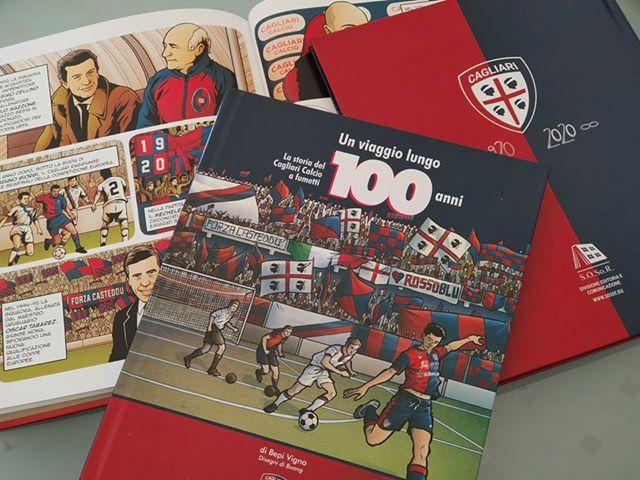 Fumetto storia Cagliari Calcio 100 anni