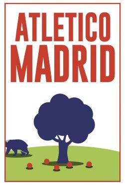 Atletico Madrid Minimal Poster