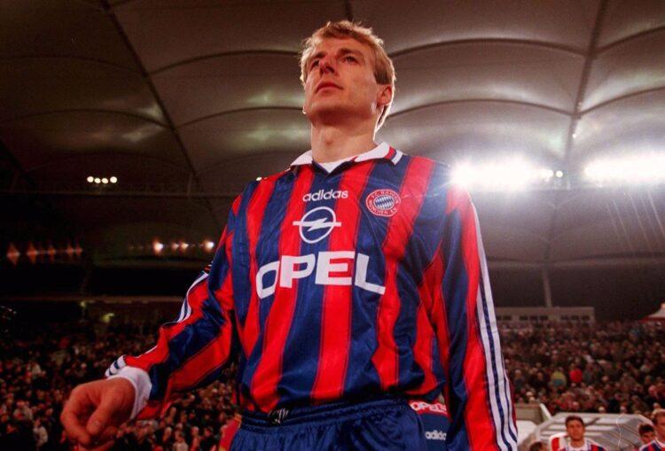Klinsmann con la maglia del Bayern 1995-96