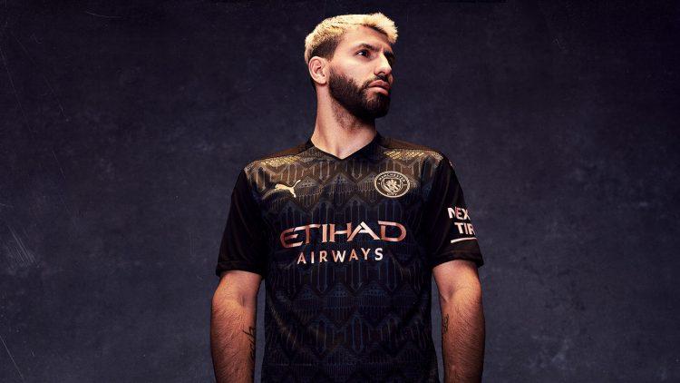 Aguero maglia Manchester City away 2020-21