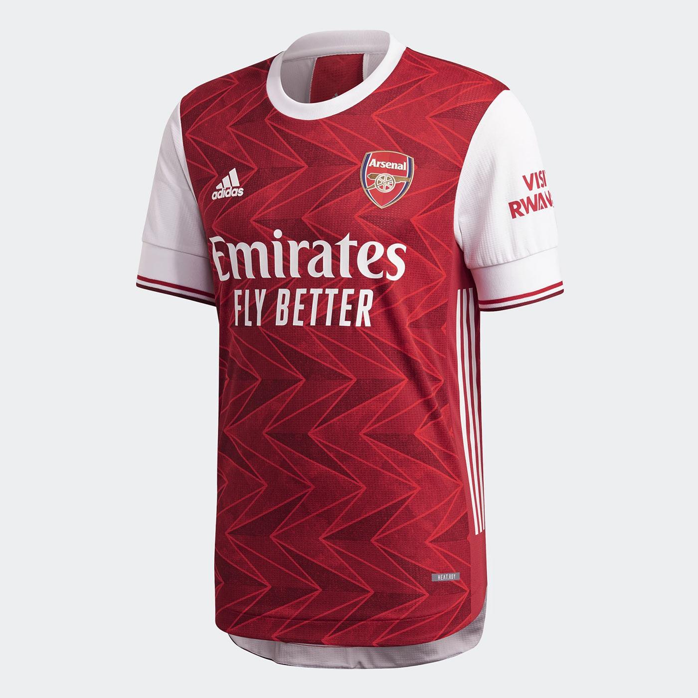 Maglia Arsenal 2020-2021, Adidas rispolvera un motivo Art Decò