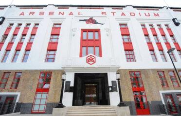La facciata dello stadio di Highbury