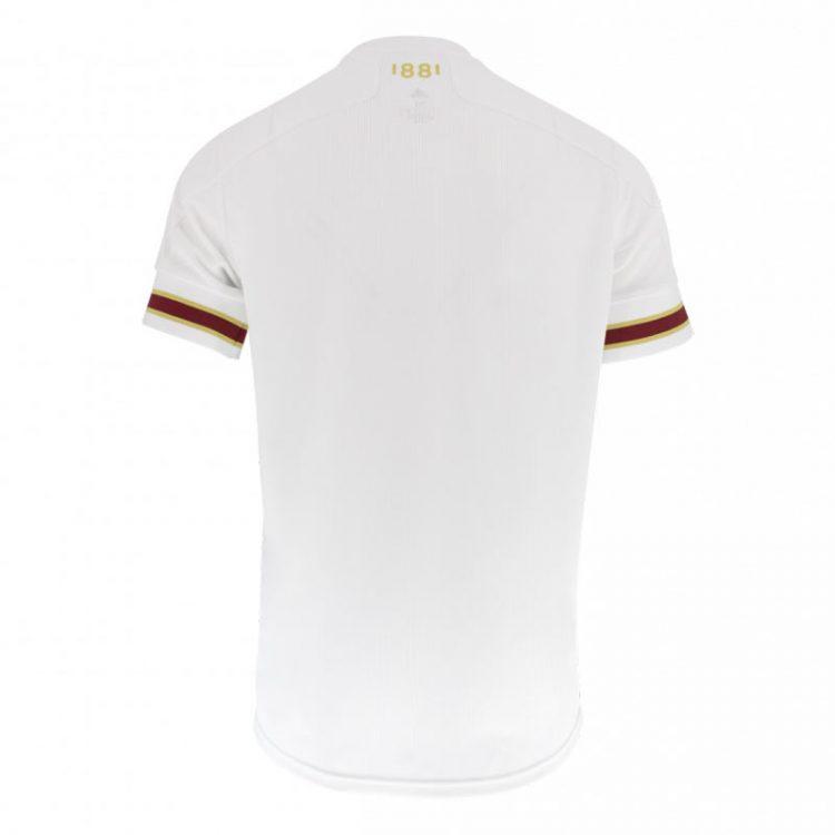 Seconda maglia Bordeaux 2020-21 bianca retro