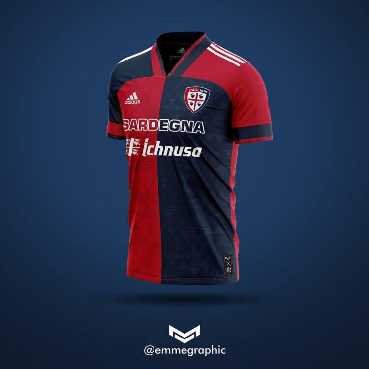 Cagliari maglia adidas 2020 home - Emmegraphic