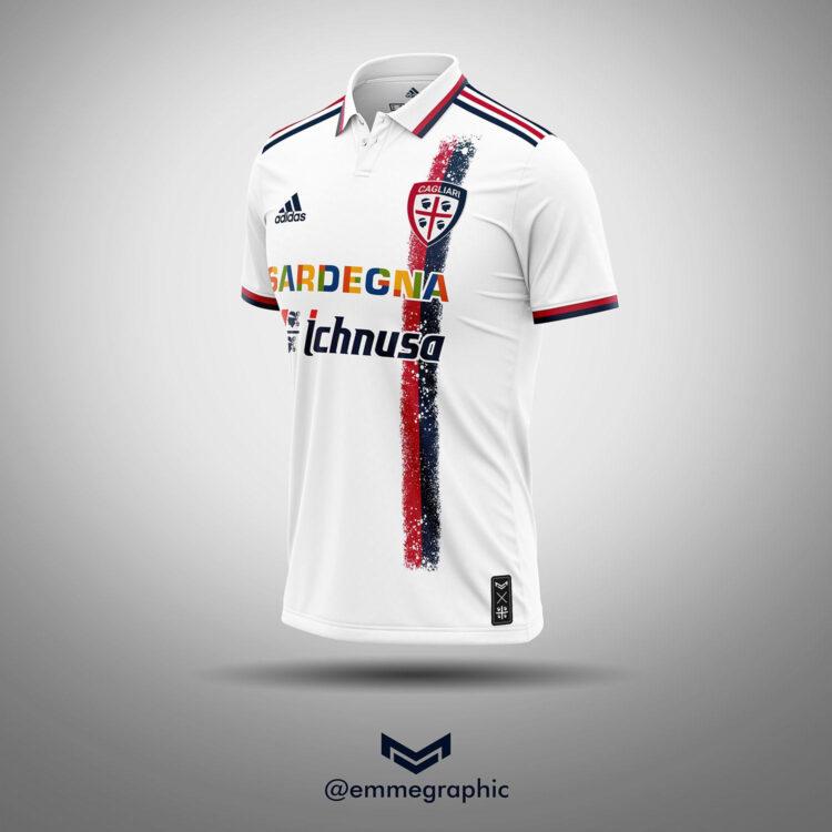 Cagliari maglia away adidas - Emmegraphic