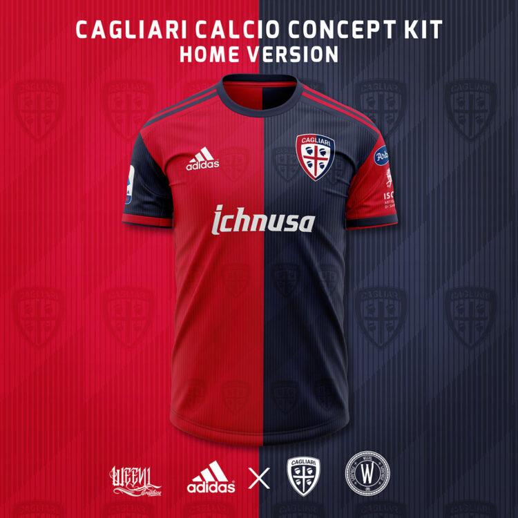 Maglia Cagliari Weevil home adidas