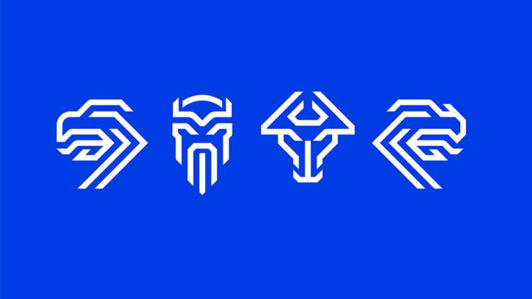 I segni dei quattro spiriti come elementi separati