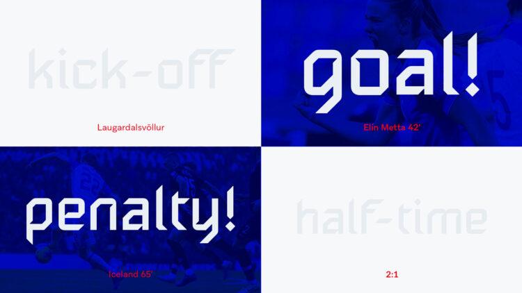 Grafiche nuovo carattere Islanda