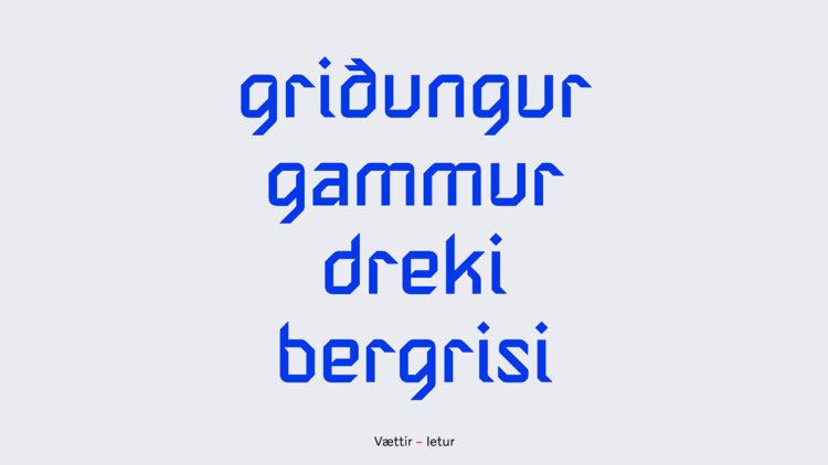 Nuovo font Islanda 2020