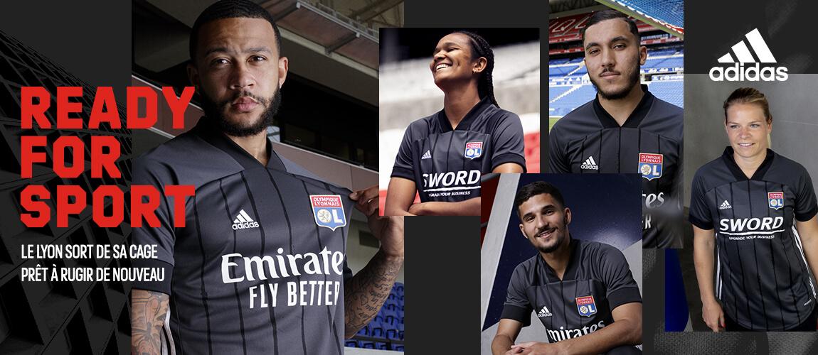 Maglie Lione 2020-2021, Adidas festeggia i 70 anni del club