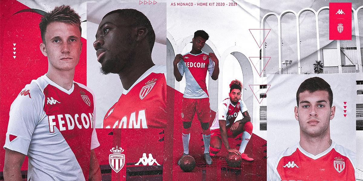 La nuova maglia del Monaco 2020-21 Kappa