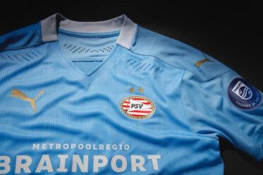 Dettaglio maglia PSV trasferta 2020-21