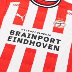 Dettaglio prima maglia PSV logo Eindhoven