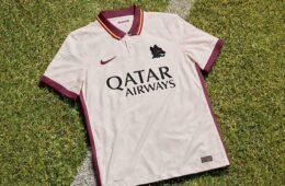 La nuova maglia della Roma da trasferta 2020-21