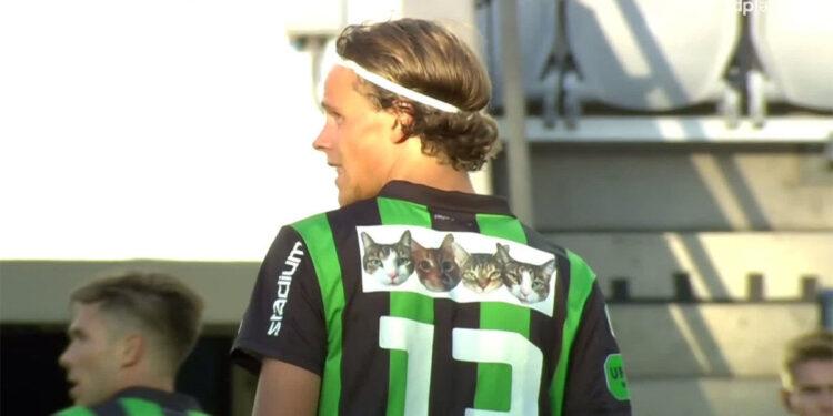 4 gatti come sponsor di maglia