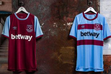 Le maglie del West Ham 2020-2021 Umbro