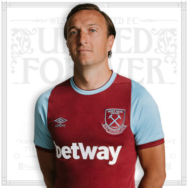 Mark Noble nuova maglia West Ham