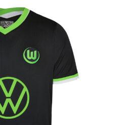 Colletto maglia Wolfsburg trasferta