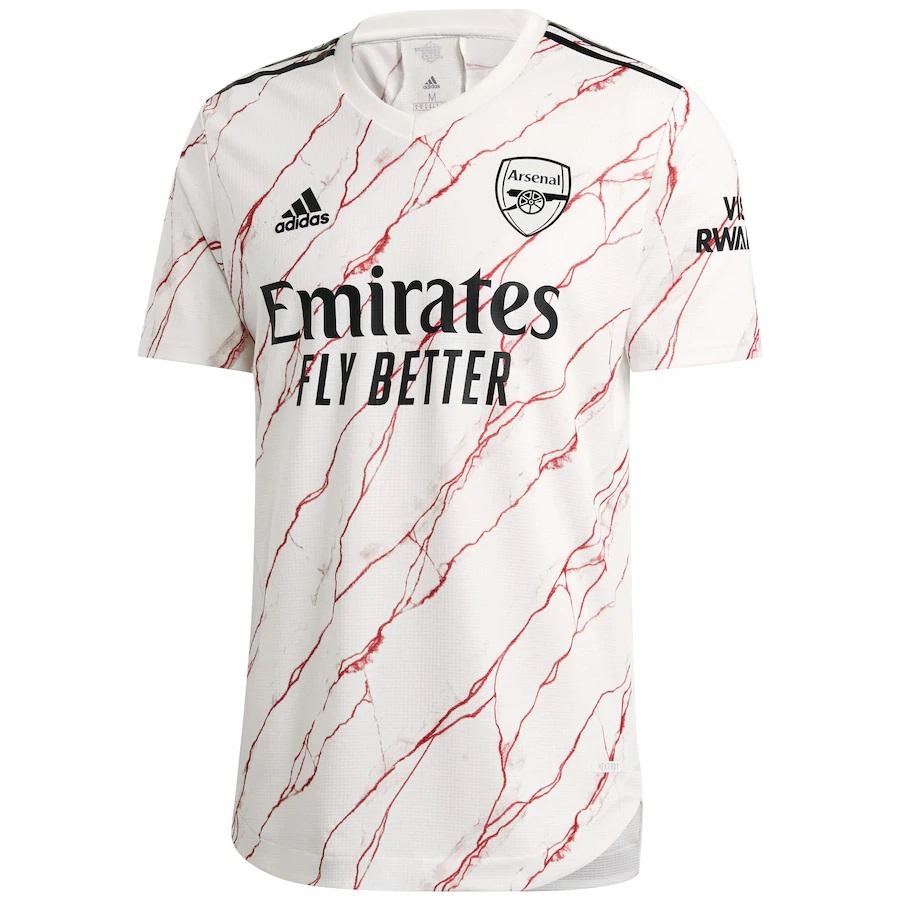 Seconda maglia Arsenal 2020-2021 con il marmo di Highbury