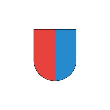 Bandiera Canton Ticino rossa e blu