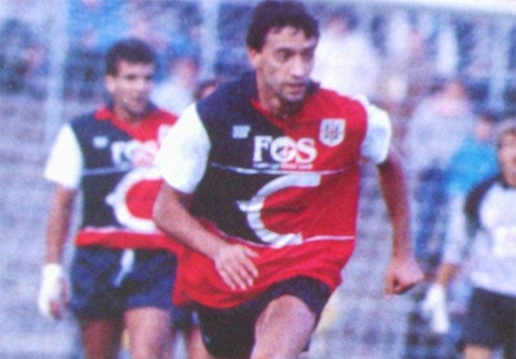 Maglia Cagliari 1980-81 maniche bianche