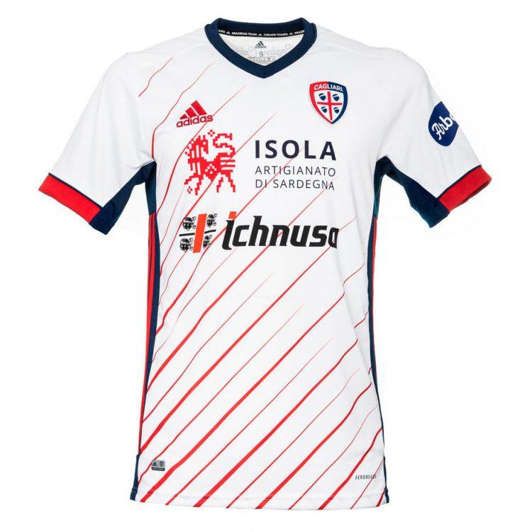 Seconda maglia Cagliari 2020-2021 bianca