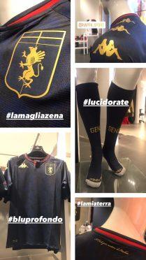 Dettagli maglia Zena Genoa