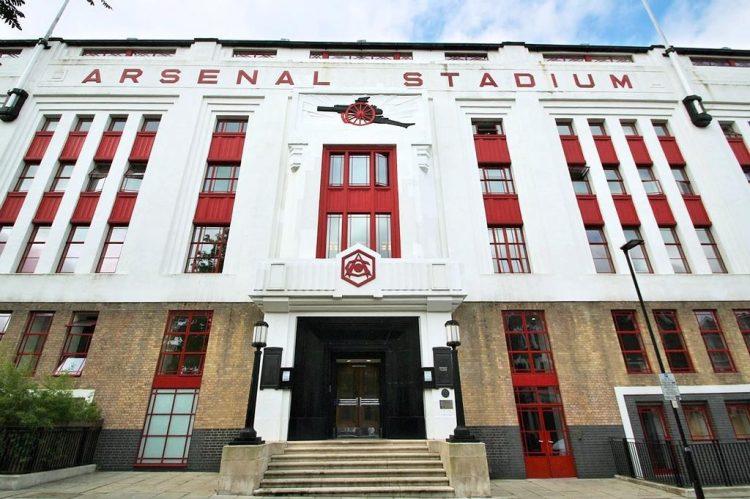 Facciata stadio Highbury a Londra