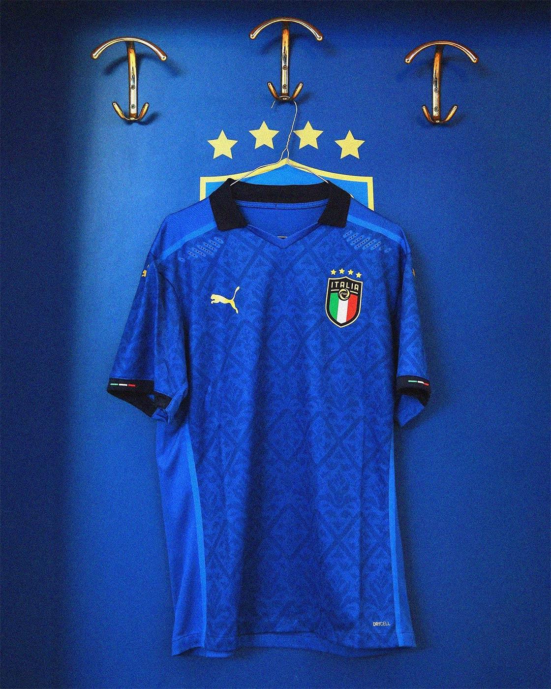 Maglia Italia Europei 2021, Puma punta sui fregi del Rinascimento