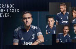 La nuova maglia away della Juventus 2020-2021