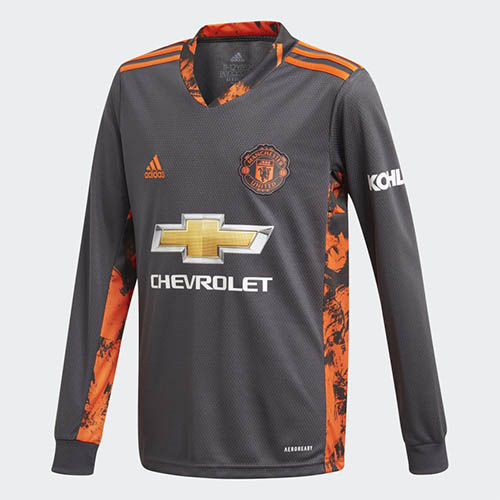 maglia manchester united 2020 2021 con un pattern ispirato allo stemma maglia manchester united 2020 2021 con