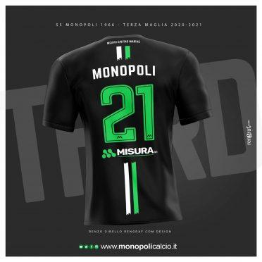 Terza maglia Monopoli 2020-2021 retro