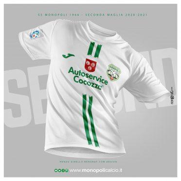 Seconda maglia Monopoli 2020-21 bianca