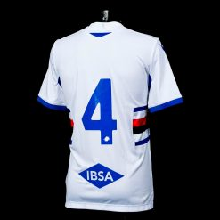 Sampdoria away 2020-21 retro numero 4