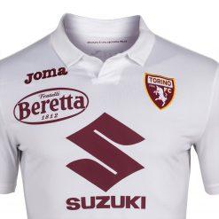 Dettaglio colletto maglia Torino away bianca