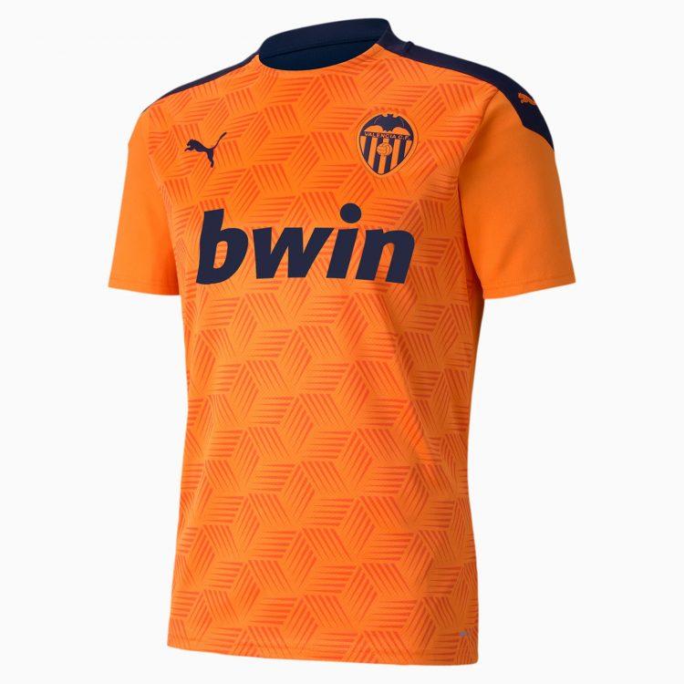Seconda maglia Valencia 2020-21 arancione