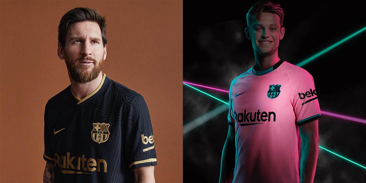 Barcellona Nike 2020-21 maglie away e third