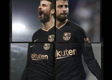 Pique Barcellona away nera